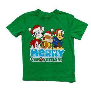 Paw Patrol Green Christmas T-Shirt